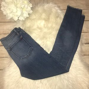 MM Vintage Skinny Raw Hem Denim Jeans